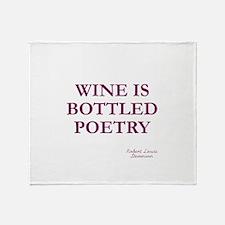 Wine Poetry Throw Blanket