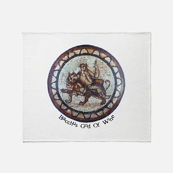 Bacchus God Of Wine Throw Blanket