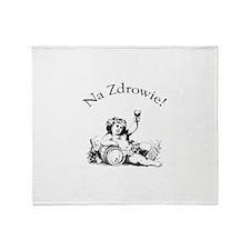 Polish Toast Wine Throw Blanket