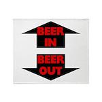 Beer In Beer Out Throw Blanket