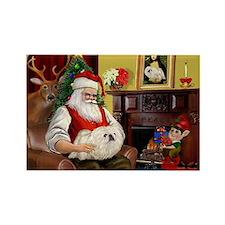 Santa's Pekingese (4W) Rectangle Magnet