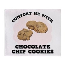 Comfort Chocolate Chip Cookie Throw Blanket
