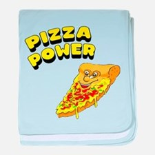 Pizza Power baby blanket