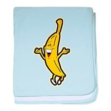 Dancing Banana baby blanket
