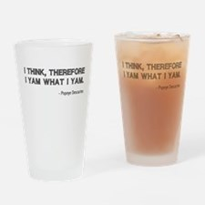 I Think Therefore I Yam Drinking Glass