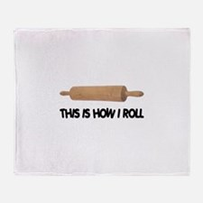 How I Roll Baking Throw Blanket