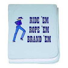 Cowgirl Humor baby blanket