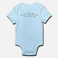 White Tiara and Cape Infant Bodysuit