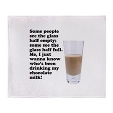 Chocolate Milk Throw Blanket