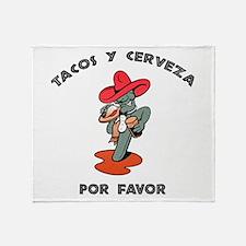 Tacos y Cerveza Throw Blanket