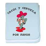 Tacos y Cerveza baby blanket
