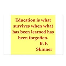 b f skinner quotes Postcards (Package of 8)