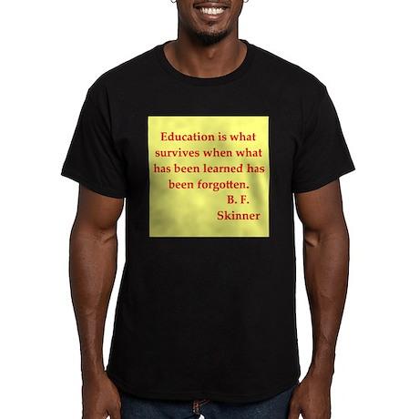 b f skinner quotes Men's Fitted T-Shirt (dark)