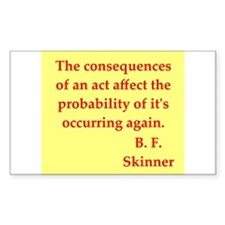 b f skinner quotes Decal