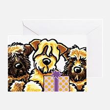 Wheaten Terrier Birthday Greeting Card