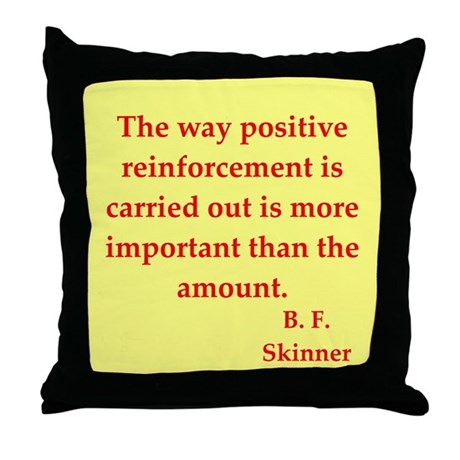 b f skinner quotes Throw Pillow
