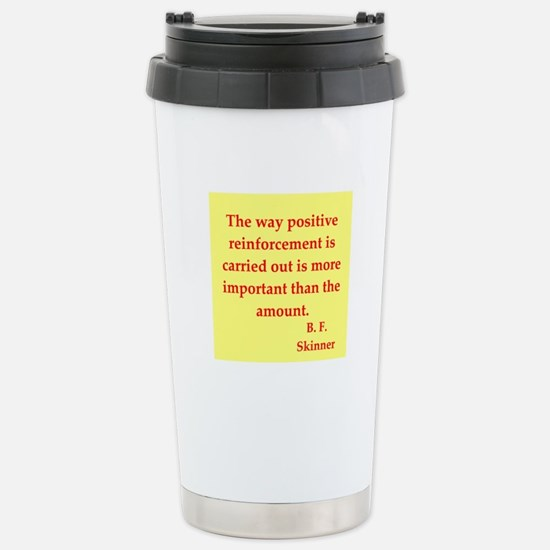 b f skinner quotes Stainless Steel Travel Mug