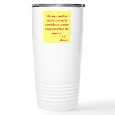 b f skinner quotes Thermos Mug