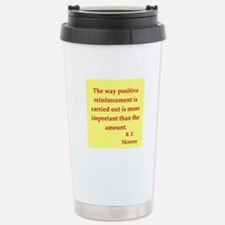 b f skinner quotes Thermos Mug