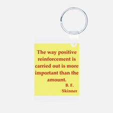 b f skinner quotes Keychains