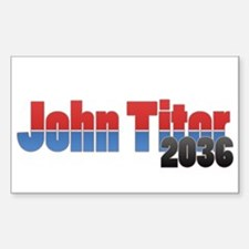 John Titor Rectangle Decal
