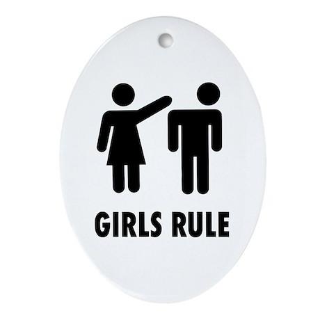 girls rule Ornament (Oval)