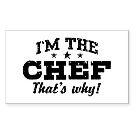 Funny Chef Sticker (Rectangle)