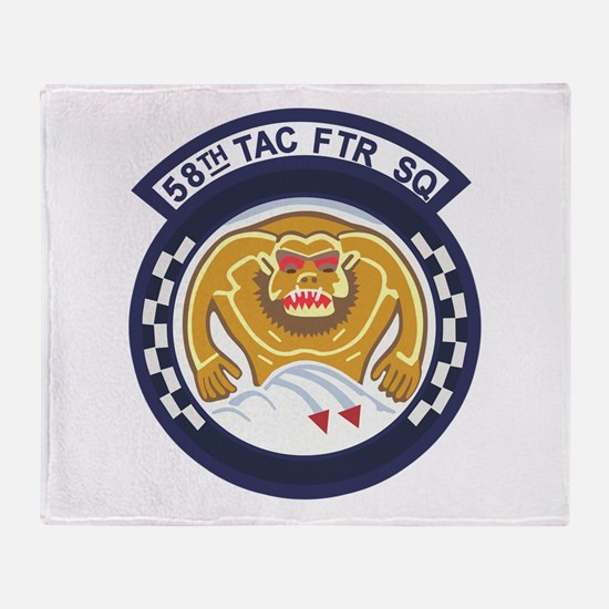 123rd Fighter Squadron Throw Blanket