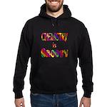Chemistry is Groovy Hoodie (dark)