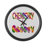 Chemistry is Groovy Large Wall Clock