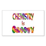 Chemistry is Groovy Sticker (Rectangle)