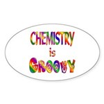 Chemistry is Groovy Sticker (Oval)