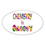 Chemistry is Groovy Sticker (Oval 10 pk)