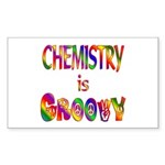 Chemistry is Groovy Sticker (Rectangle 10 pk)
