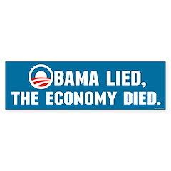 Obama Lied Sticker (Bumper)