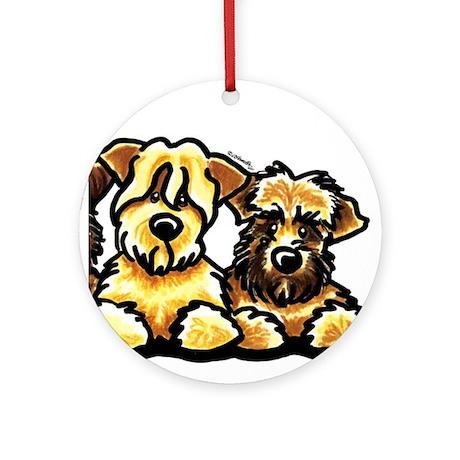 Wheaten Terrier Cartoon Ornament (Round)