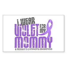 I Wear Violet 6 Hodgkin's Lymphoma Decal