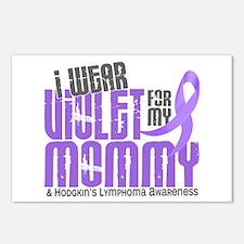 I Wear Violet 6 Hodgkin's Lymphoma Postcards (Pack