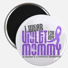 """I Wear Violet 6 Hodgkin's Lymphoma 2.25"""" Magnet (1"""
