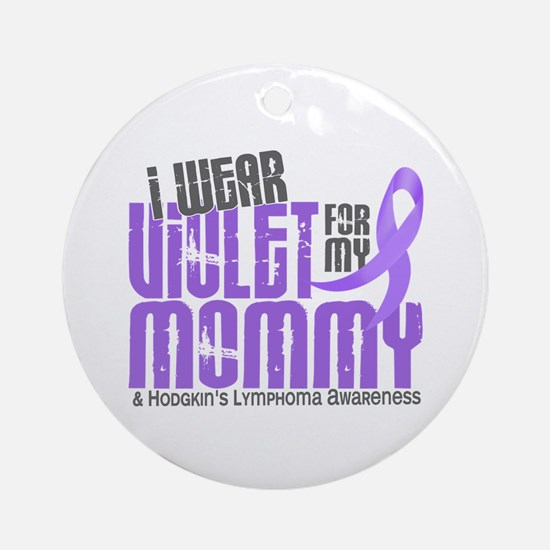 I Wear Violet 6 Hodgkin's Lymphoma Ornament (Round