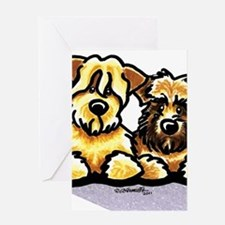 Wheaten Terrier Cartoon Greeting Card