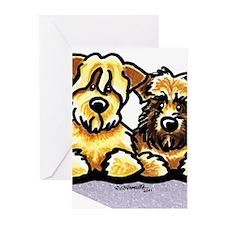 Wheaten Terrier Cartoon Greeting Cards (Pk of 10)