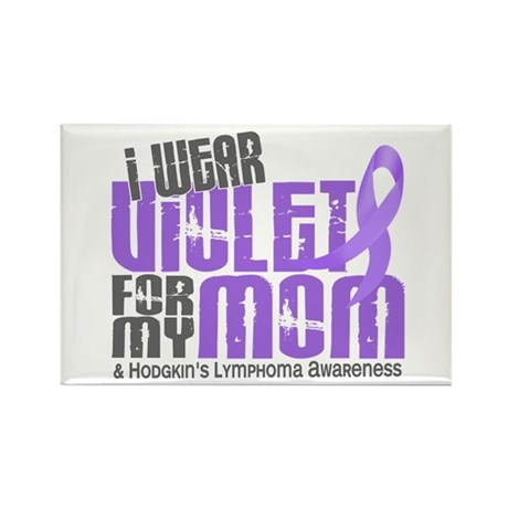 I Wear Violet 6 Hodgkin's Lymphoma Rectangle Magne