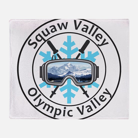 Squaw Valley - Olympic Valley - Ca Throw Blanket