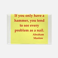 Abraham maslow quptes Rectangle Magnet