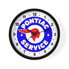 Pontiac Service Wall Clock