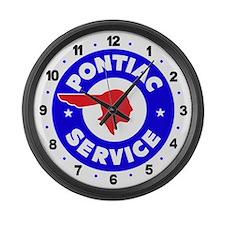 Pontiac Service Large Wall Clock