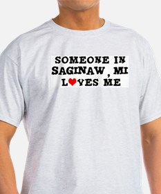 Someone in Saginaw Ash Grey T-Shirt