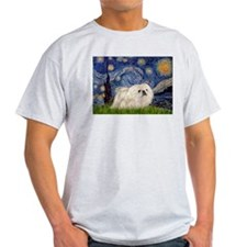 Starry Night white Peke T-Shirt
