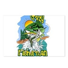 Cute Fish fly Postcards (Package of 8)